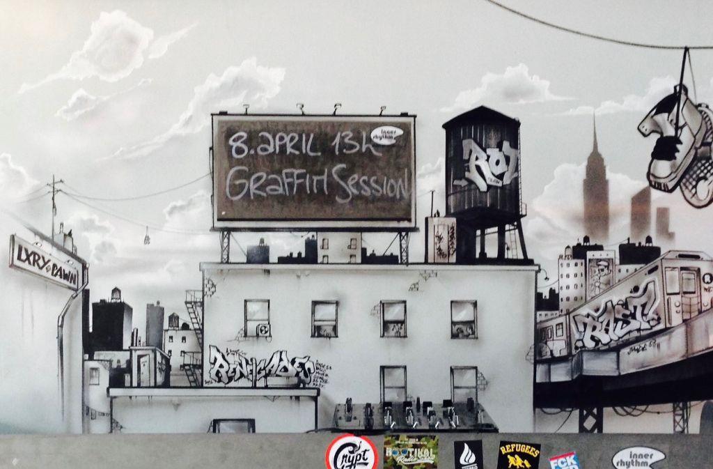 Das Mos Eisley gibt Streetart ein Zuhause und lädt am Samstag zur Graffiti-Session ein. Foto: Mos Eisley/Maximilian Frank