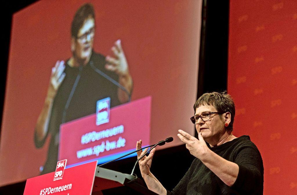 SPD-Landesvorsitzende Leni Breymaier zeigt sich verärgert über Querschüsse aus den eigenen Reihen. Foto: dpa