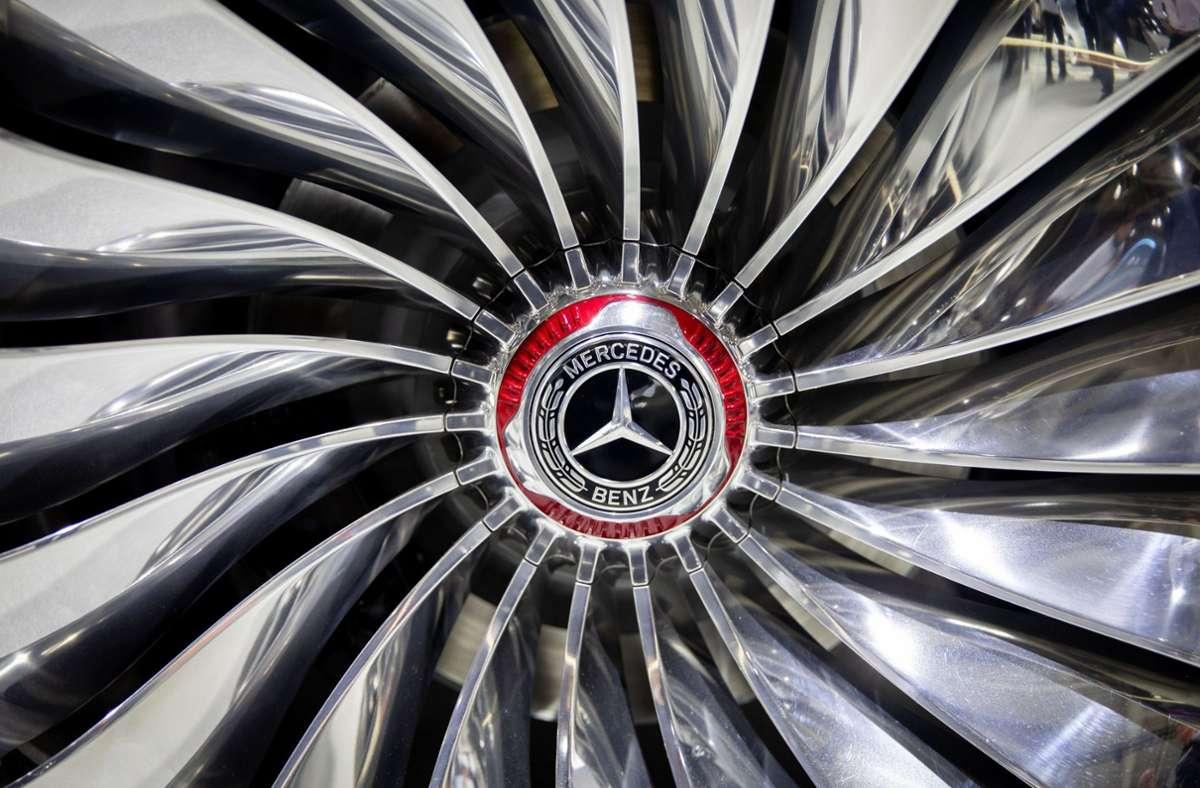 Die Felge des Vision Mercedes-Maybach Ultimate Luxury (Archivbild). Foto: dpa/Kay Nietfeld