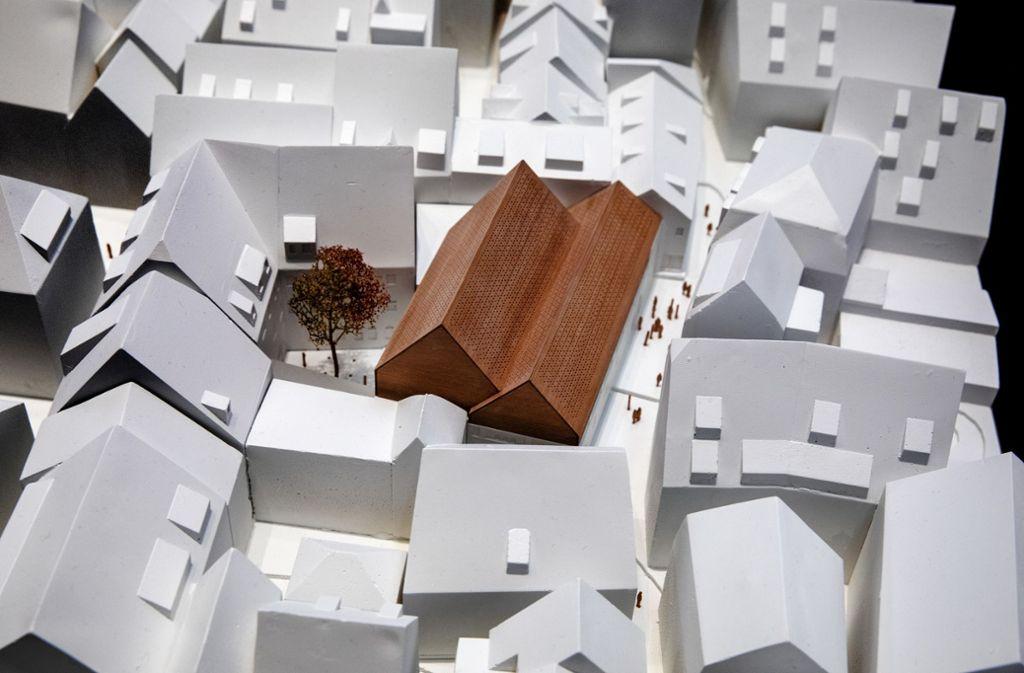 Der Neubau soll sich unauffällig dem Stadtbild anpassen. Foto: Pressefoto H. Rudel