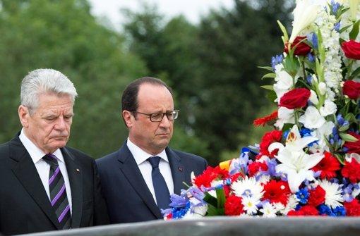 Gauck und Hollande gedenken Weltkrieg