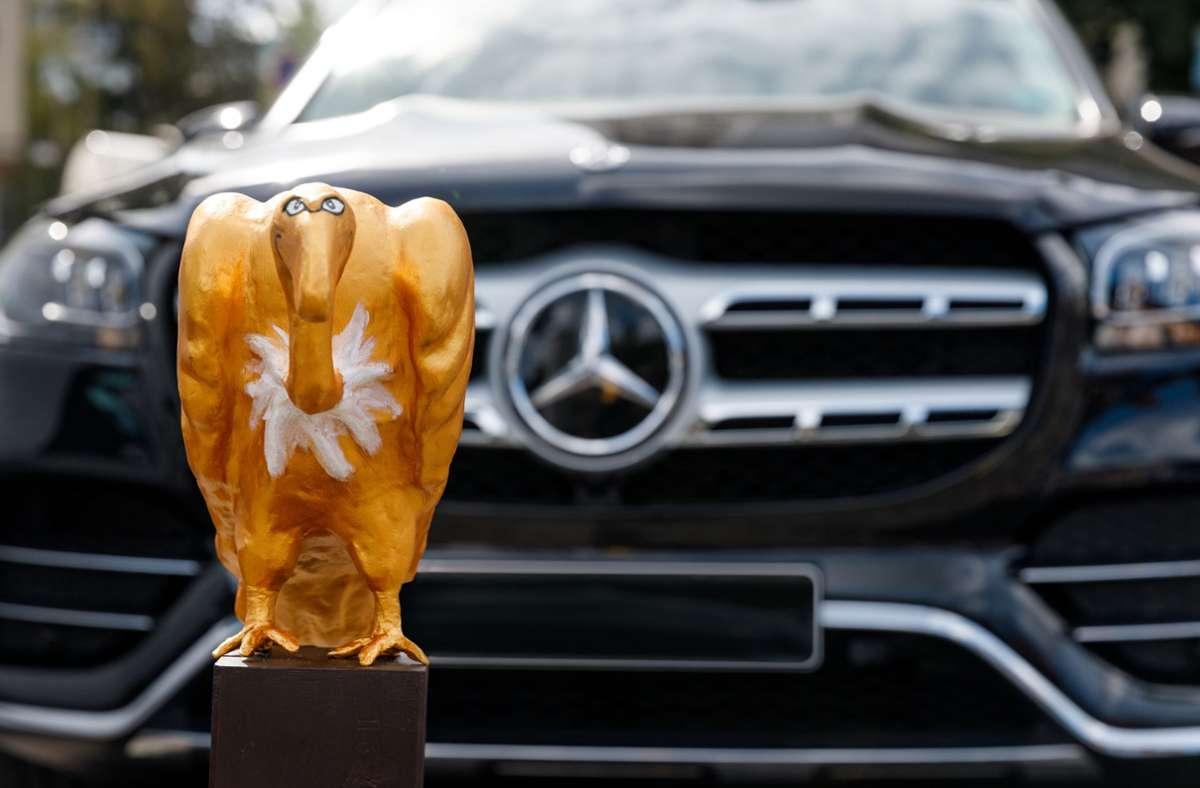"Der Mercedes GLS 2020 mit dem ""Goldenen Geier"". Foto: stefanwieland.com/STEFAN WIELAND"
