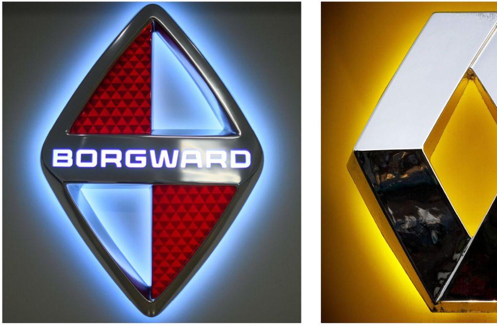 Borgward und Renault haben Markenzeichen in der Grundform einer Raute. Foto: /imago/Christoph Hardt, dpa/Sebastian Gollnow