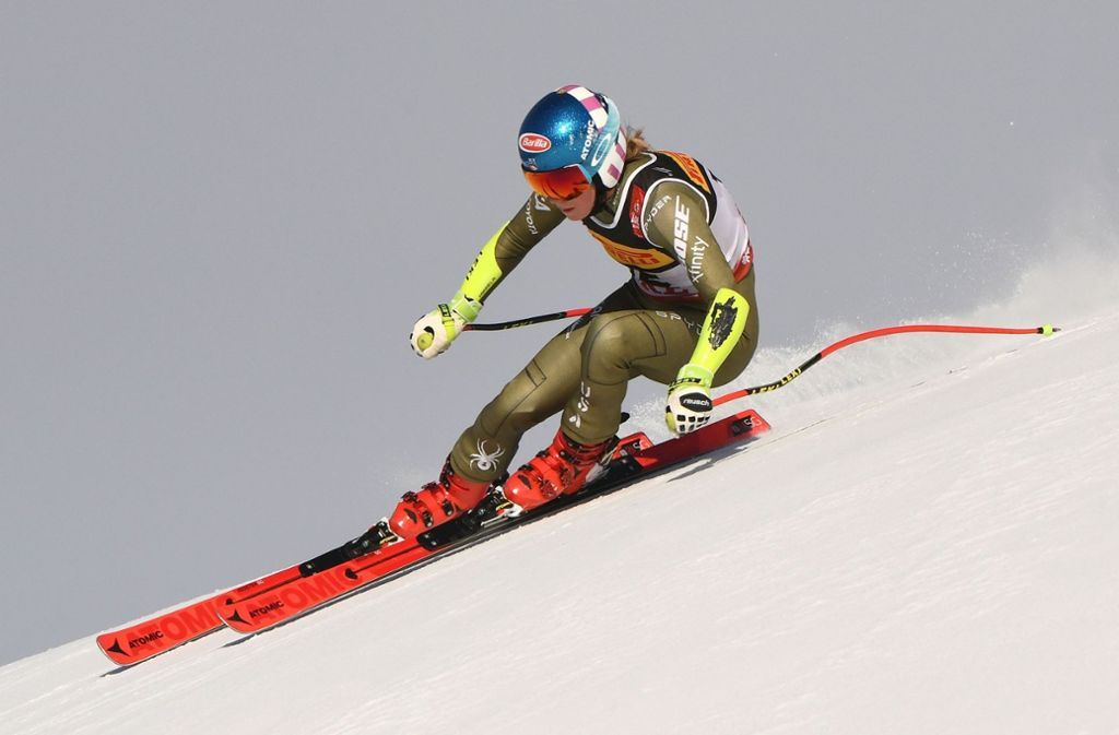 Mikaela Shiffrin hat bei der Ski-WM in Are Gold im Super-G gewonnen. Foto: AFP