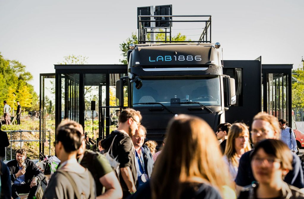Daimler will mit seinem Innovationsprojekt Lab 1886 auf der Berliner Digitalkonferenz Republica punkten – und bekommt Gegenwind. Foto: Daimler