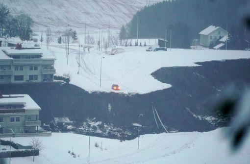 Großer Erdrutsch trifft Ort im Süden Norwegens