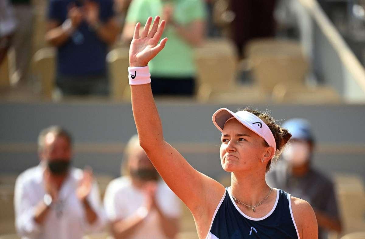 Barbora Krejcikova hat die French Open gewonnen Foto: AFP/CHRISTOPHE ARCHAMBAULT