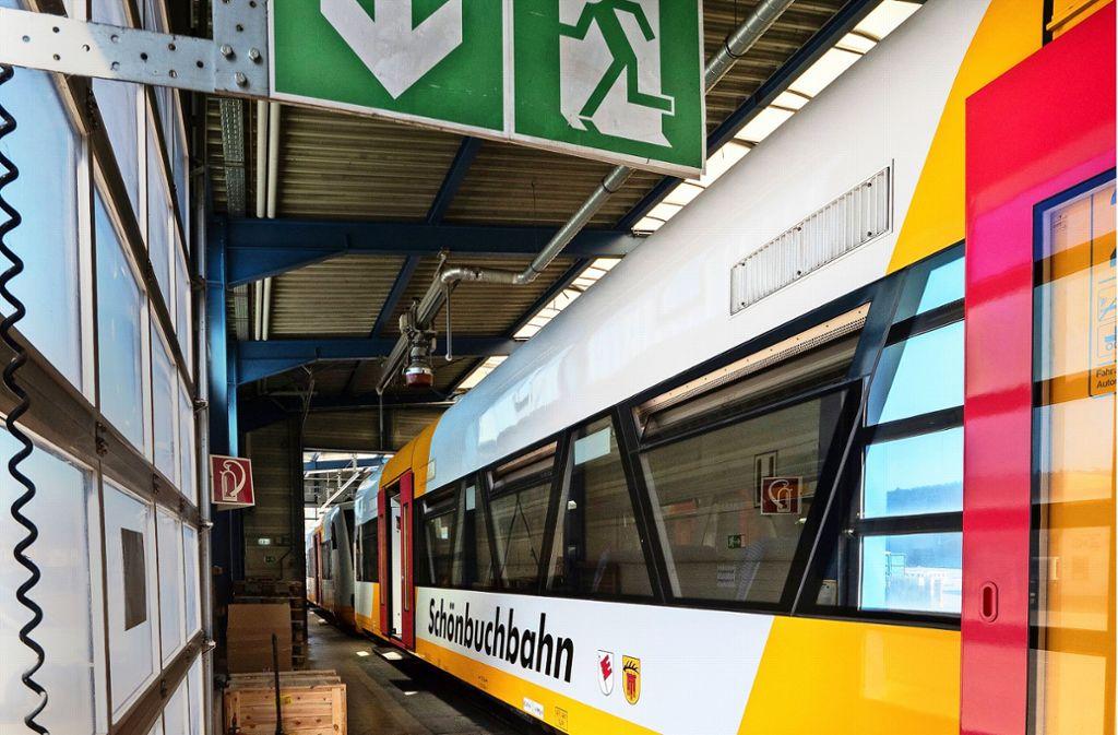 Seit dem Beginn der Sommerferien stehen die Züge wieder im Depot. Dort bleiben sie drei Monate länger als ursprünglich geplant. Foto: factum/Andreas Weise
