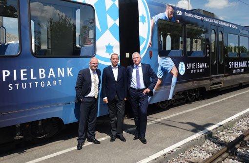 Stadtbahn strahlt in schönstem Kickers-Blau