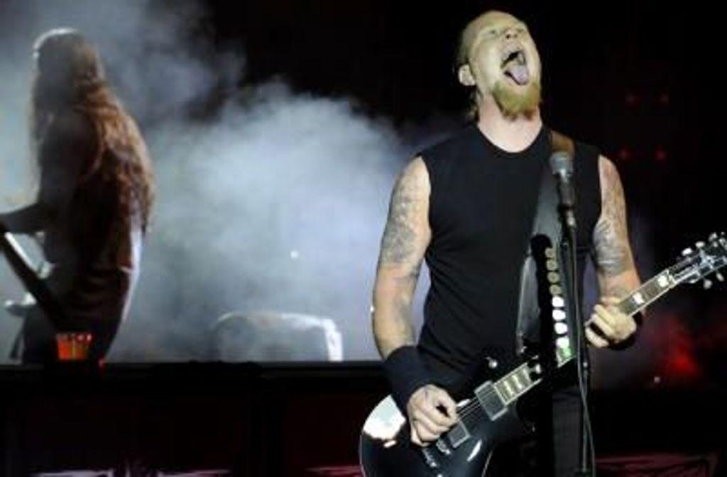 Metallica spielen in der Schleyerhalle (und am Montag gleich nochmal). Weitere Wochenend-Konzerttipps zeigt die Bilderstrecke. Foto: dpa