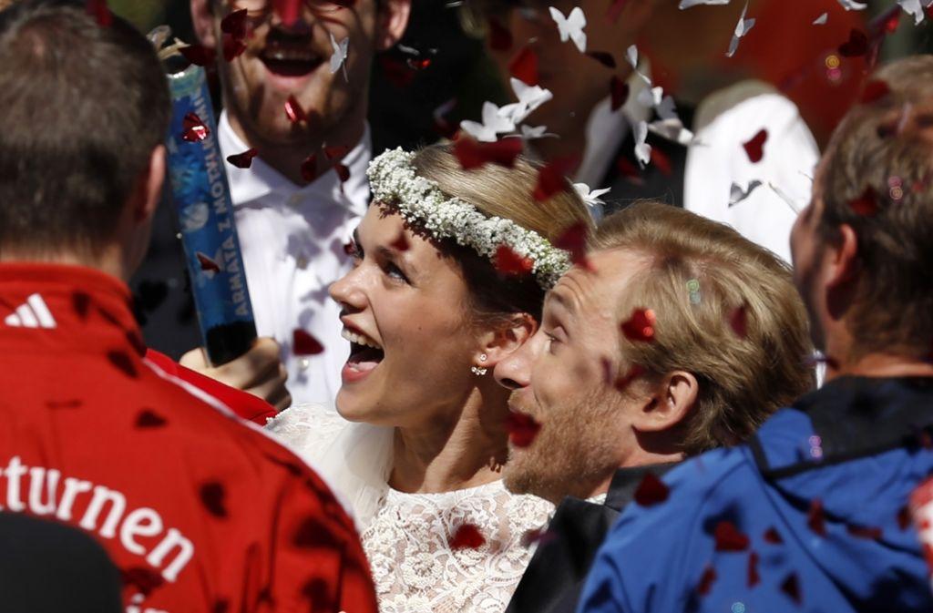 Samuel Koch hat seine Partnerin Sarah Elena Timpe geheiratet. Foto: Getty Images Europe