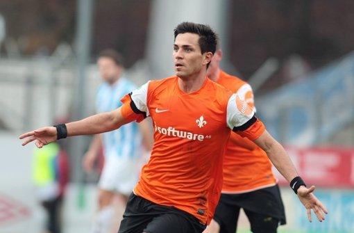 Dritte Liga 2012/2013: Darmstadts Danny Latza im Spiel gegen die Kickers. Foto: Pressefoto Baumann