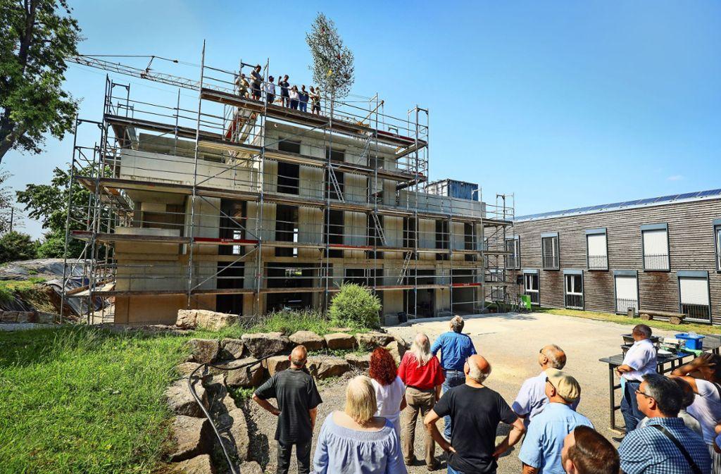 Das Waldhaus feierte Richtfest. Foto: factum/Weise