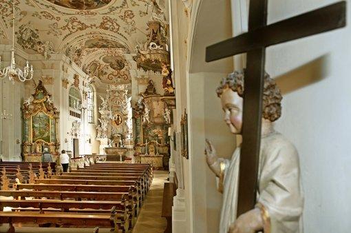 Die barocke Pracht von Ave Maria ist der Stukkateursarbeit von Johann Ulrich Schweizer dem Älteren zu verdanken. Foto: Horst Rudel