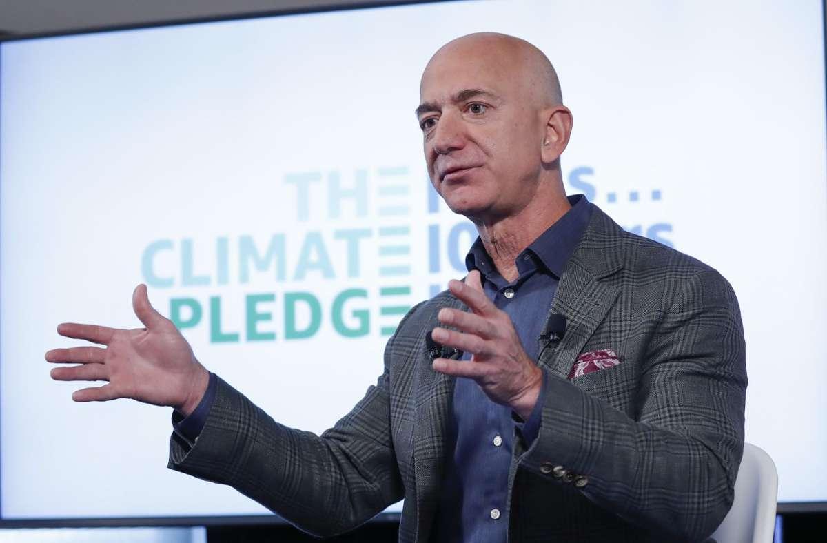 Amazon-Chef Jeff Bezos will mit dem Climate Pledge Funds etwas für den Klimaschutz tun. Foto: AP/Pablo Martinez Monsivais