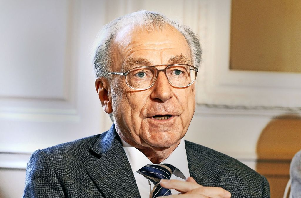 """""""Man kann, was man will"""", so lautete das Lebensmotto des ehemaligen baden-württembergischen Ministerpräsidenten Lothar Späth. Foto: dpa"""