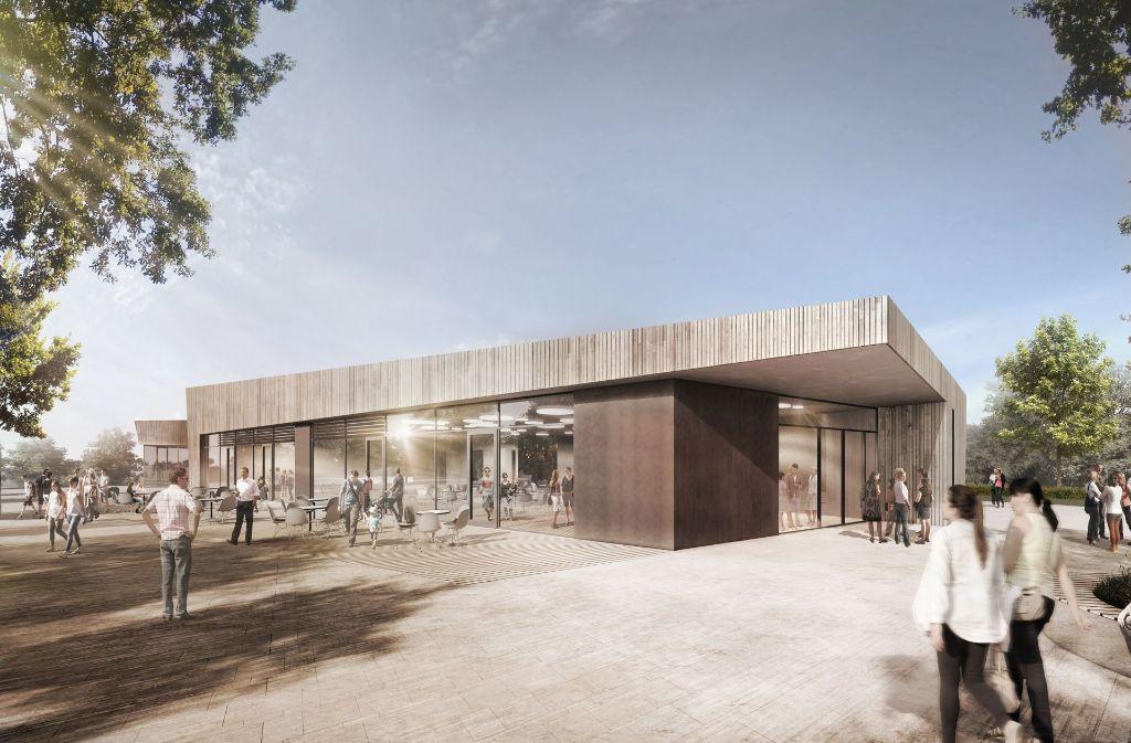 So sieht der Entwurf für das geplante Gemeinwesenhaus aus. Foto: N2