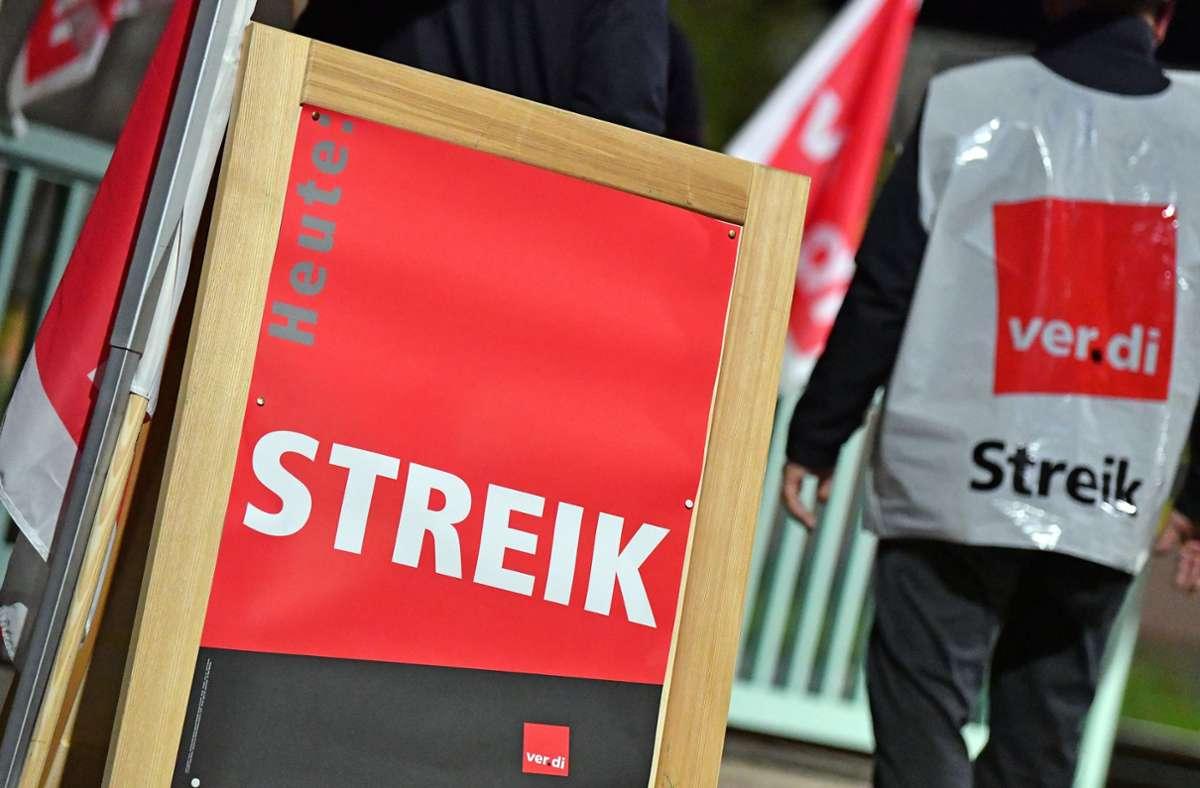 In der kommenden Woche werden die Warnstreiks zwischen Montag und Mittwoch ausgeweitet und ihren Höhepunkt erreichen. Foto: dpa/Martin Schutt