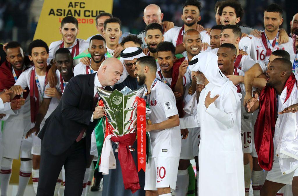 Katar hat sensationell den Asien-Cup gewonnen. Foto: Getty Images Europe