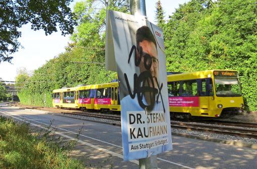CDU-Plakate von Vandalismus betroffen