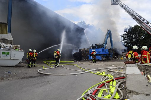 Vollbrand in Recyclingfirma