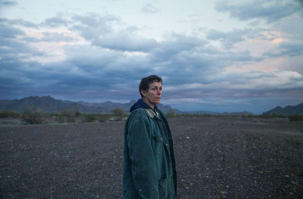 """Im Sommer 2020 in Venedig erfolgreich, im nächsten Jahr vielleicht in den deutschen Kinos zu sehen: """"Nomadland"""" mit Frances McDormand Foto: Five Gallon Bucket/Joshua Richardson"""