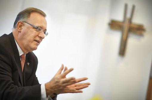 Der Landesbischof Frank Otfried July Vertrauen und Glauben. Foto: Heinz Heiss