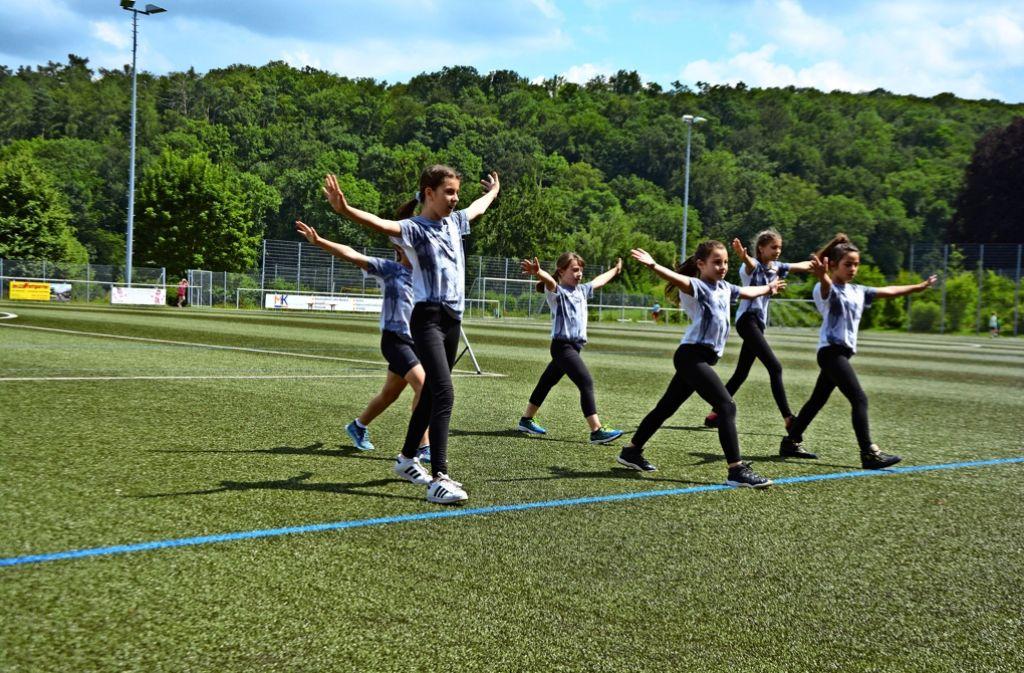 Mit insgesamt sechs Kindertanzgruppen war die Abteilung Turnen in diesem Jahr vertreten. Die jungen Tänzerinnen zeigten gerne, was sie können. Foto: Thomas Weingärtner