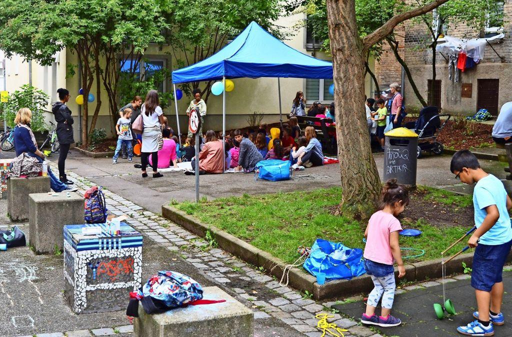 Auch im Sommer 2017 wurde in der Unteren Straße einen Tag lang gespielt. Foto: IB