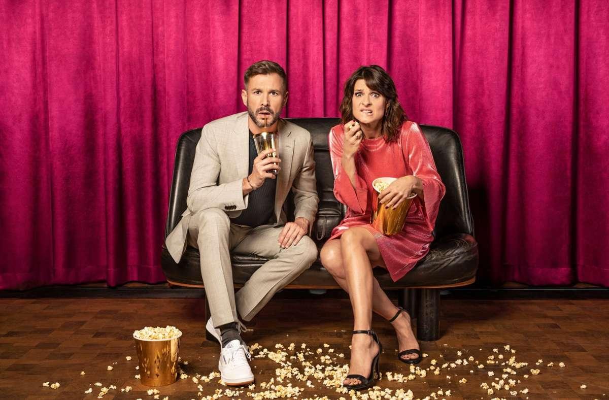 """Sie führen auch durch die achte Staffel von """"Promi Big Brother"""": Jochen Schropp und Marlene Lufen. Foto: Sat.1 /Marcus Höhn"""