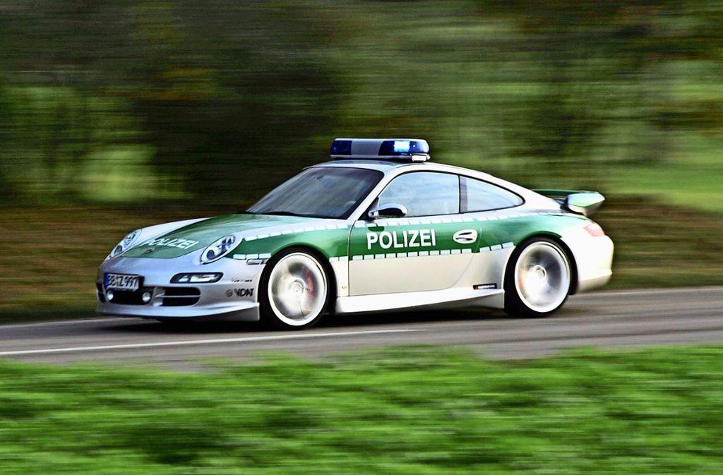 Diesen Porsche kann sich nur die Polizei leisten. Foto: gms