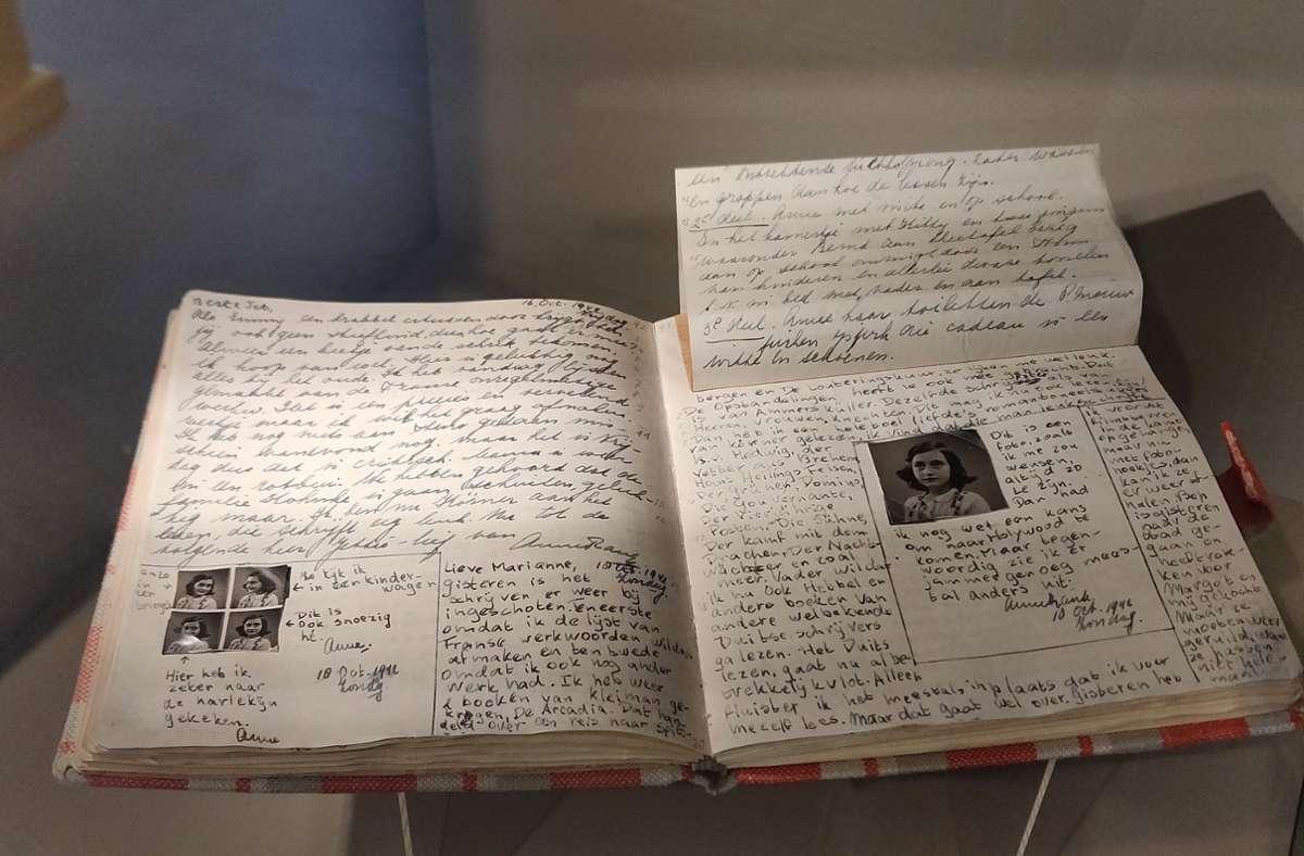 Das Tagebuch von Anne Frank – in unserer Bildergalerie finden Sie mehr. Foto: dpa/Insa Kohler