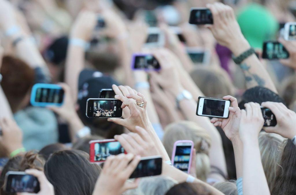 So sehen Popkonzerte meist aus Sicht des Publikums aus. Foto: dpa