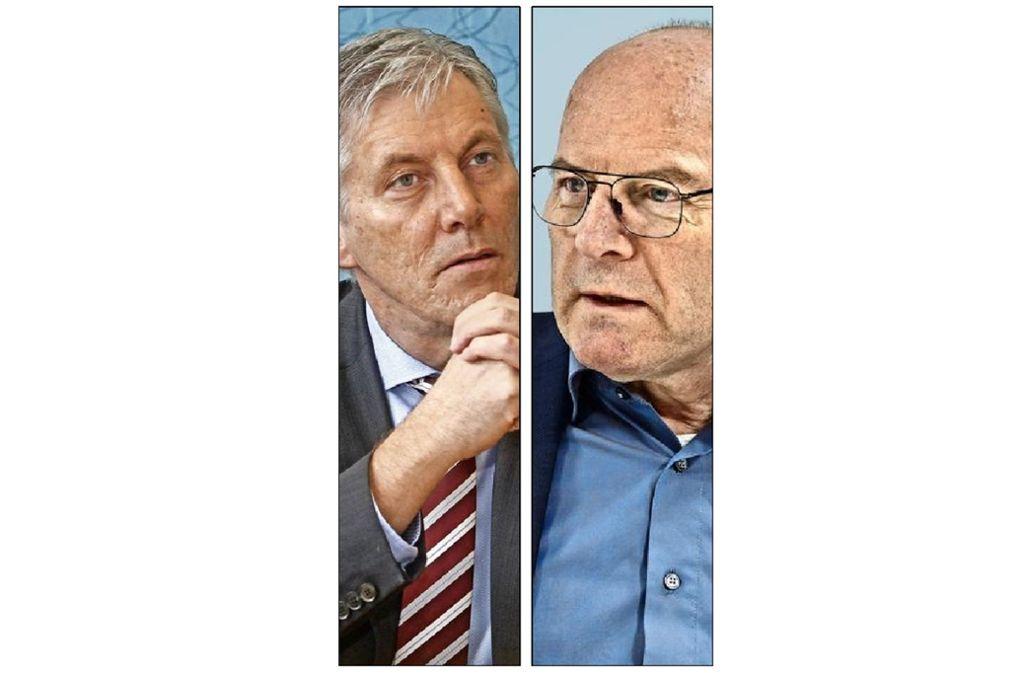 Zwei Befürworter: Helmut Riegger und Winfried Hermann. Foto: