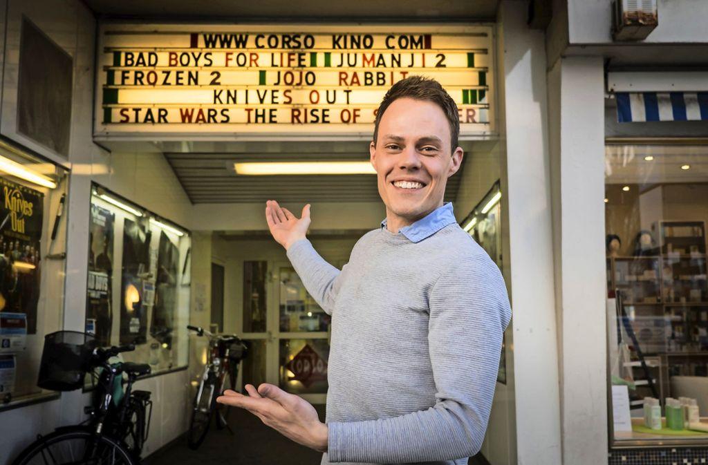"""Fredrik Andersson, der in Stuttgart unter anderem bei """"Rebecca"""" auf der Bühne stand,  hat  das Vorstadtkino Corso  mit englischsprachigem Programm in  Vaihingen übernommen. Foto: Lichtgut(Achim Zweygarth"""