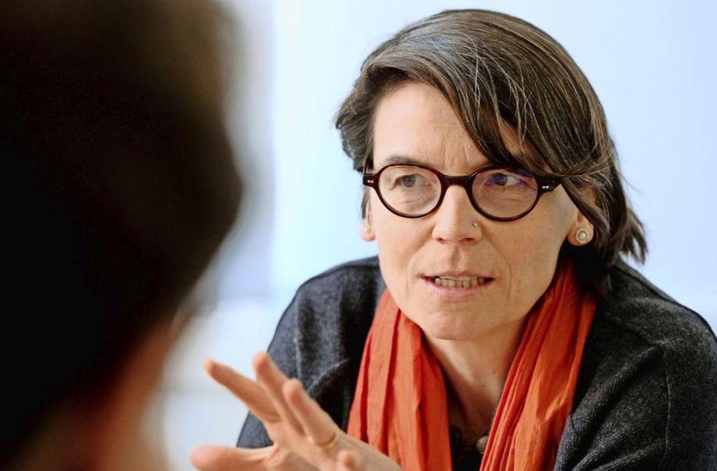 Setzt auf Gespräche: Kirchentagspräsidentin Christina Aus der Au Foto: epd