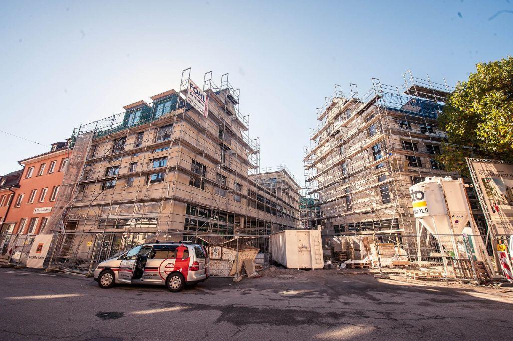 Botnangs Neue Mitte nimmt Gestalt an: Sehen Sie sich auf einer der Baustellen Stuttgarts um! Foto: www.7aktuell.de | Florian Gerlach