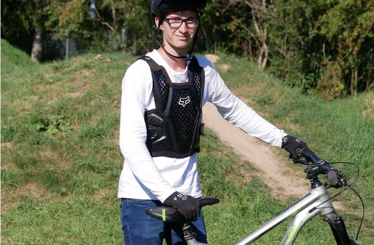 Zum Trainieren bleibt  Maurice Pohlen in Waldenbuch nur der Dirtpark im  Stadtteil Hasenhof. Foto: /Eileen Breuer
