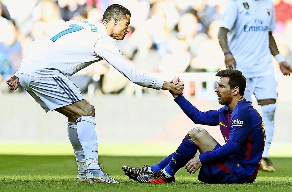 Millionenschwere Steuersünder: die Superstars Cristiano Ronaldo (l.) und Lionel Messi. Sehen Sie hier die Hauptfiguren der Football Leaks Foto: AP