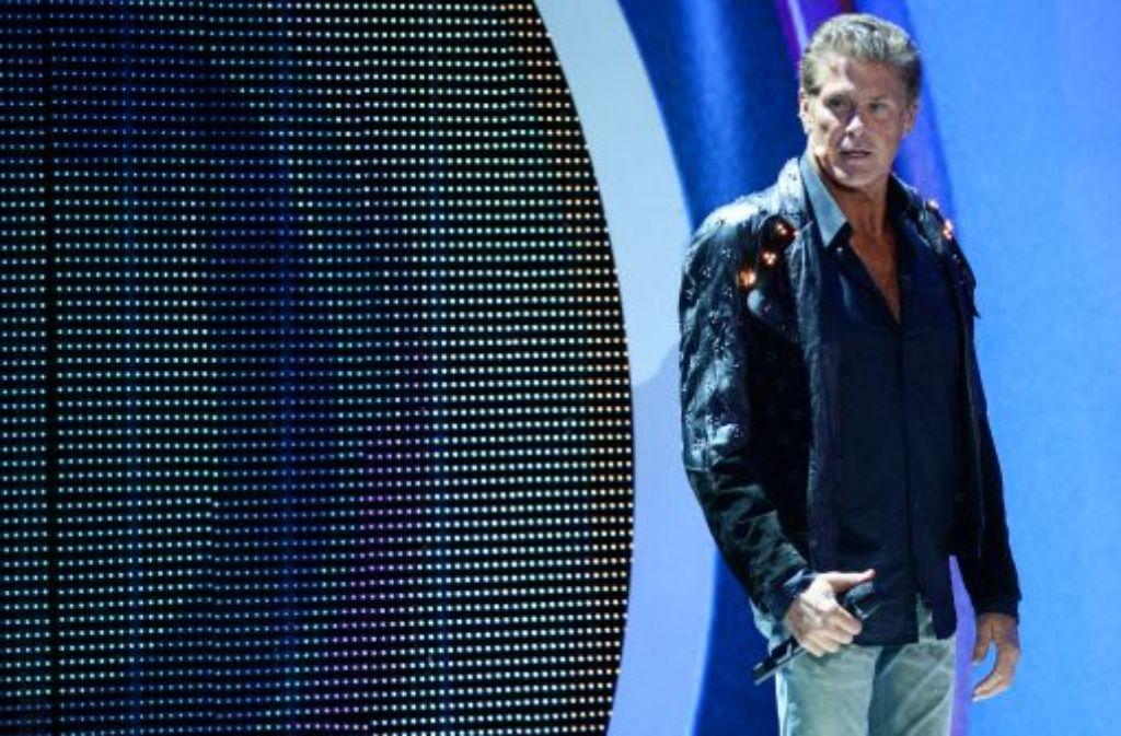 """Da waren es nur noch elf: Am Dienstagnachmittag verließ David Hasselhoff die Sat.1-Show """"Promi Big Brother"""". Sein Vater ist krank. Foto: dpa"""