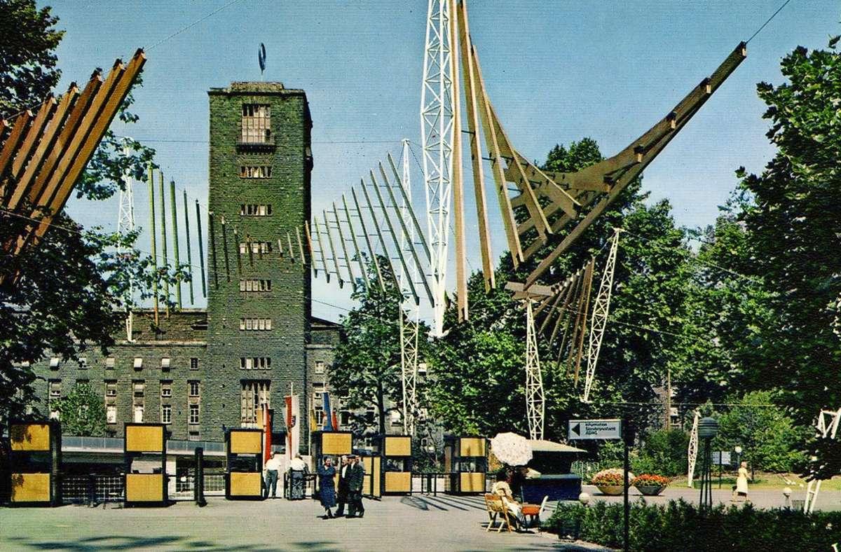 Die Eingänge zur Bundesgartenschau 1961 beim Hauptbahnhof. Foto: Sammlung/ Michaela Klapka