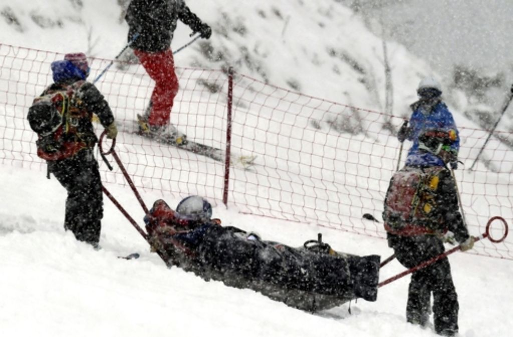 Lindsey Vonn ist schwer gestürzt. Foto: dpa
