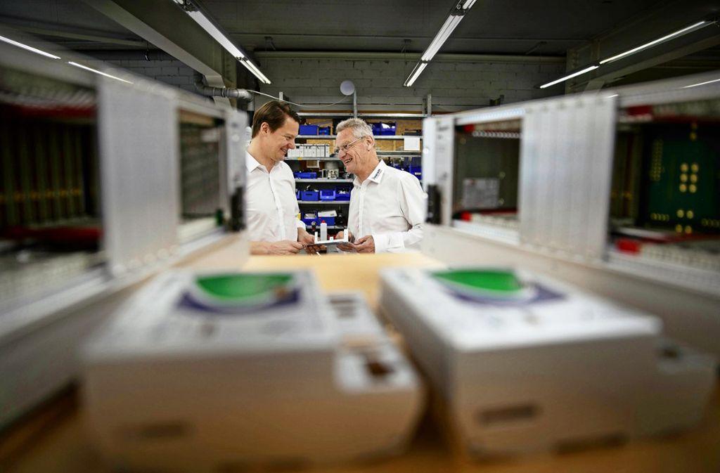 Florian (links) und Reinhard Winger sind ständig auf der Suche nach neuen Geschäftsideen.Foto:Gottfried Stoppel Foto: