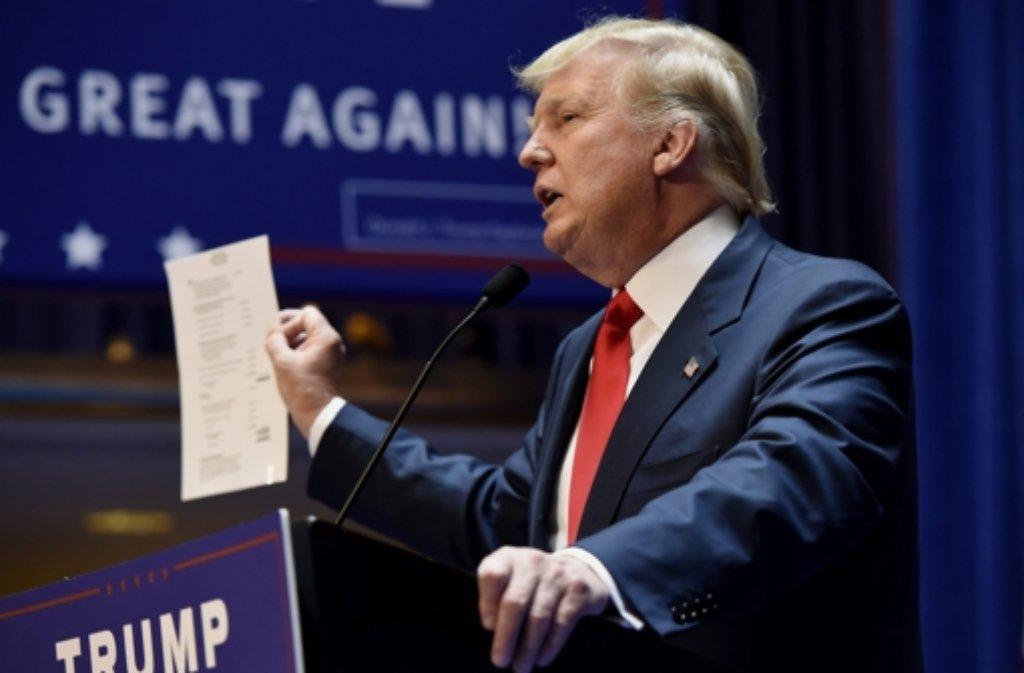 US-Milliardär Donald Trump Foto: dpa