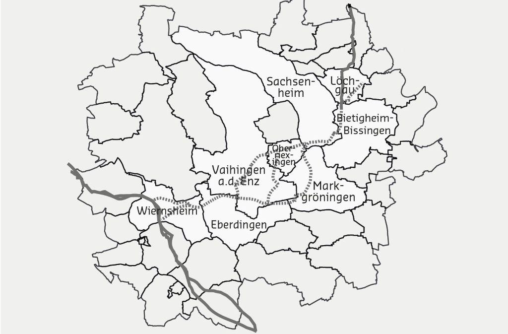 Die Neckarenzttalleitung hat drei mögliche Korridore durch den Kreis Ludwigsburg. Foto: RP Stuttgart