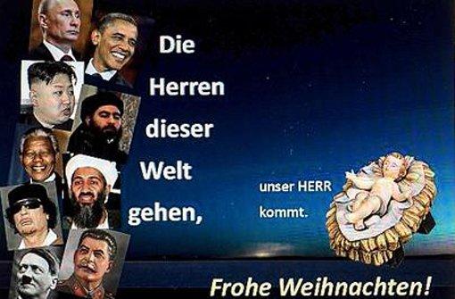 Osama und Obama in den Weihnachtsgrüßen