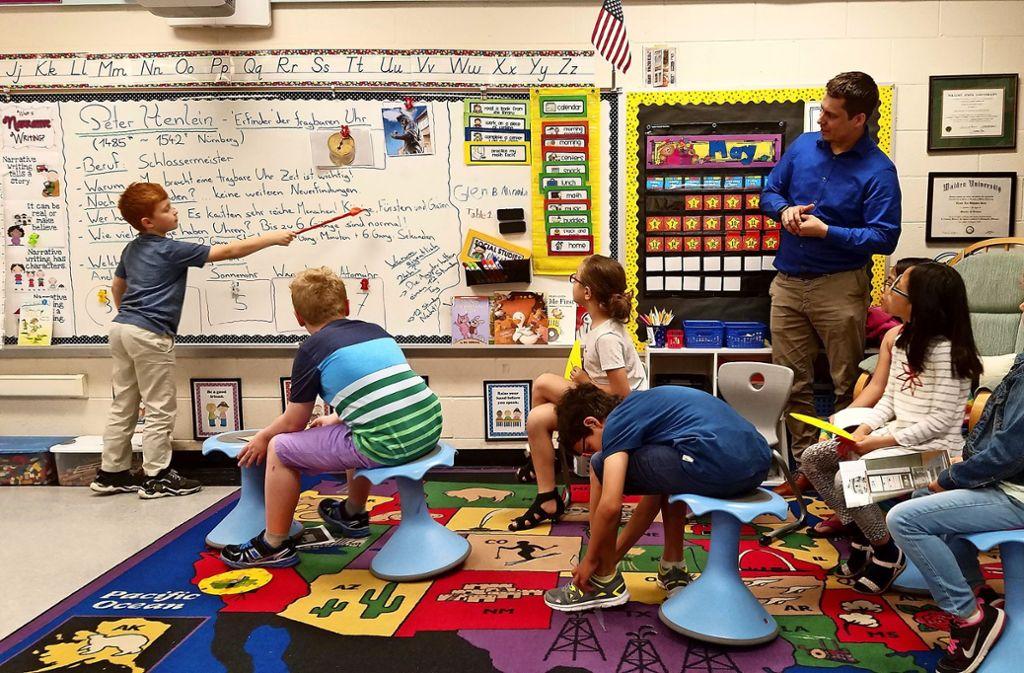 Schulalltag in Ann Arbor: Beim Projekttag arbeiten alle Klassen an einem Thema. Foto: privat/Yvonne Stevens