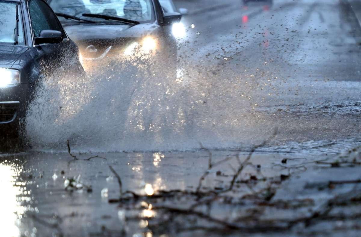 Das Unwetter wütete in der Region, Ludwigsburg war aber nicht stark betroffen. Foto: dpa/Caroline Seidel