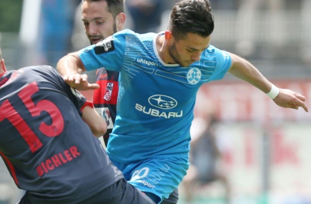 Kickers-Mittelfeldspieler Halimi wechselt zum FSV Mainz 05. Foto: Pressefoto Baumann