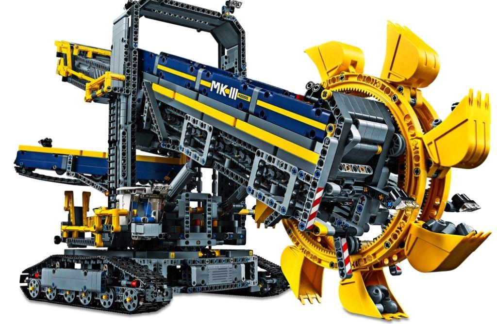 Ausgefeilte Technik im Modell: Der Schaufelradbagger von Lego mit 3900 Teilen Foto: Hersteller